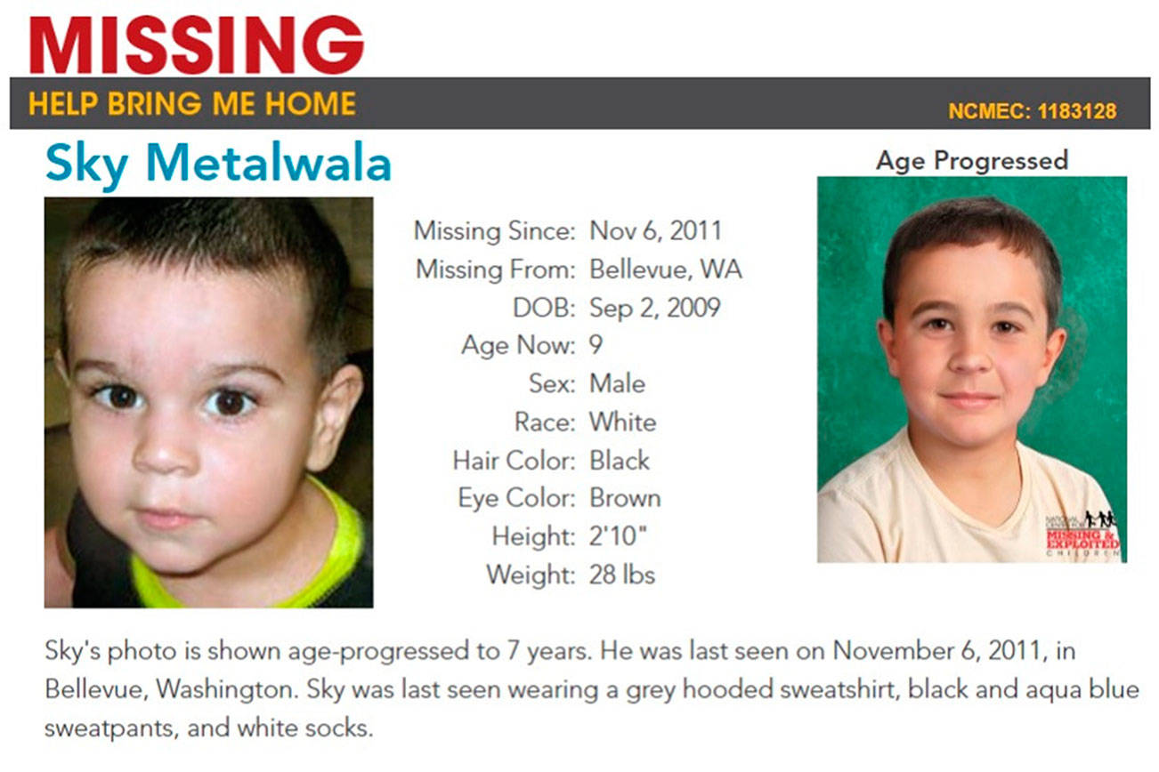 Sky Metalwala has been missing for seven years. Photo courtesy of the National Center for Missing and Exploited Children
