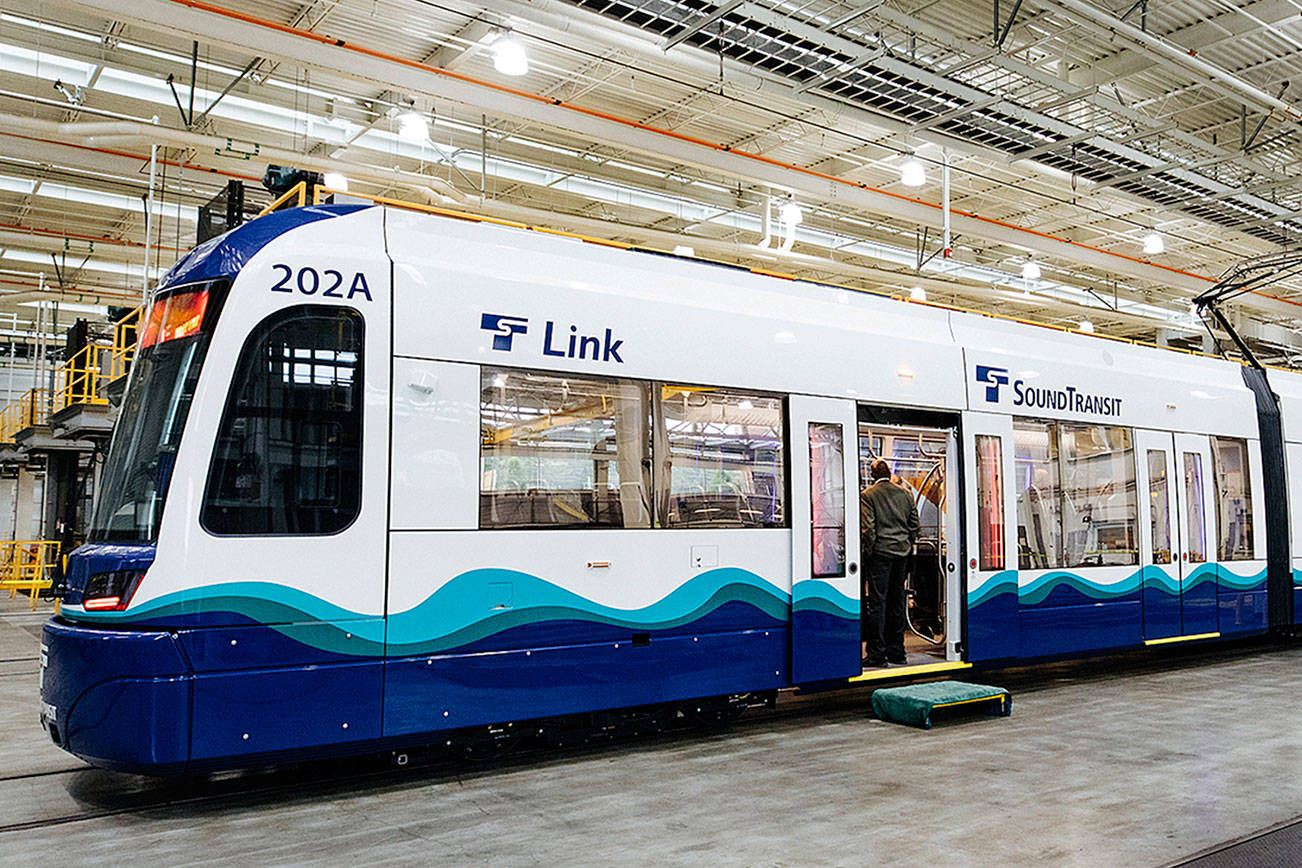 Media day at OMF to show off the first Siemens Link light rail vehicle June 19, 2019. File photo