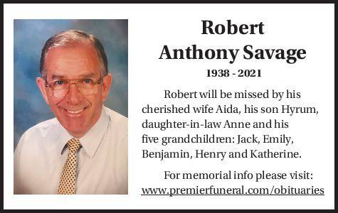 Robert Anthony Savage | Obituary
