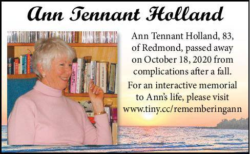 Ann Tennant Holland | Obituary